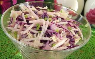 Как приготовить салат из зеленой редьки