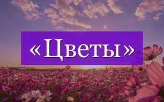 Какое проверочное слово к слову цветок