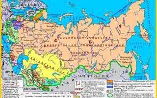 Какие республики входили в СССР список